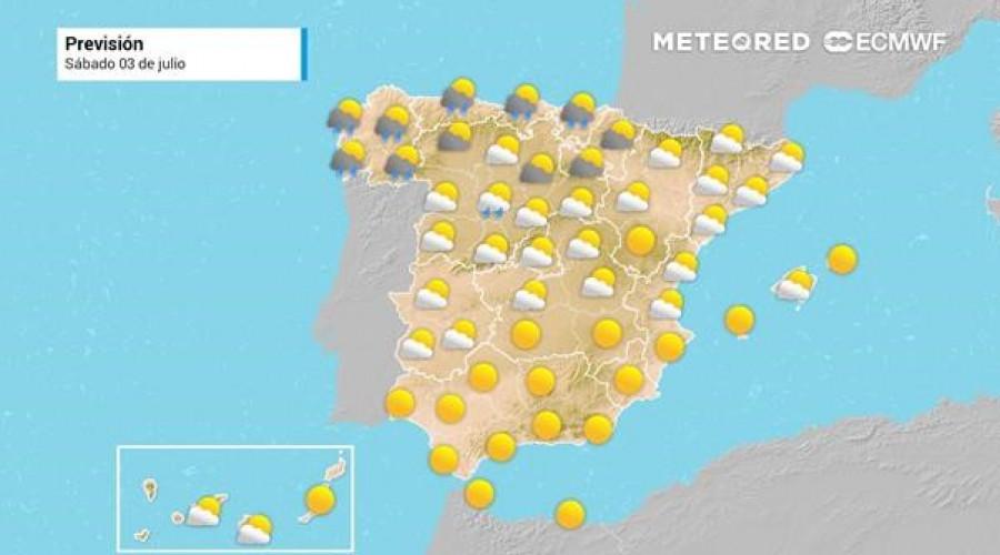 Julio comienza con temperaturas de más de 40ºC